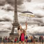 Rebeccca à la Tour Eiffel
