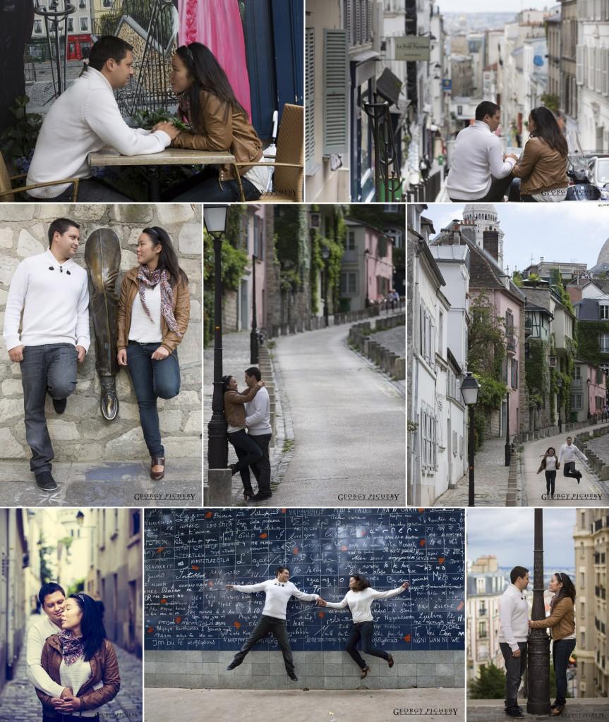 2 amoureux à Montmartre