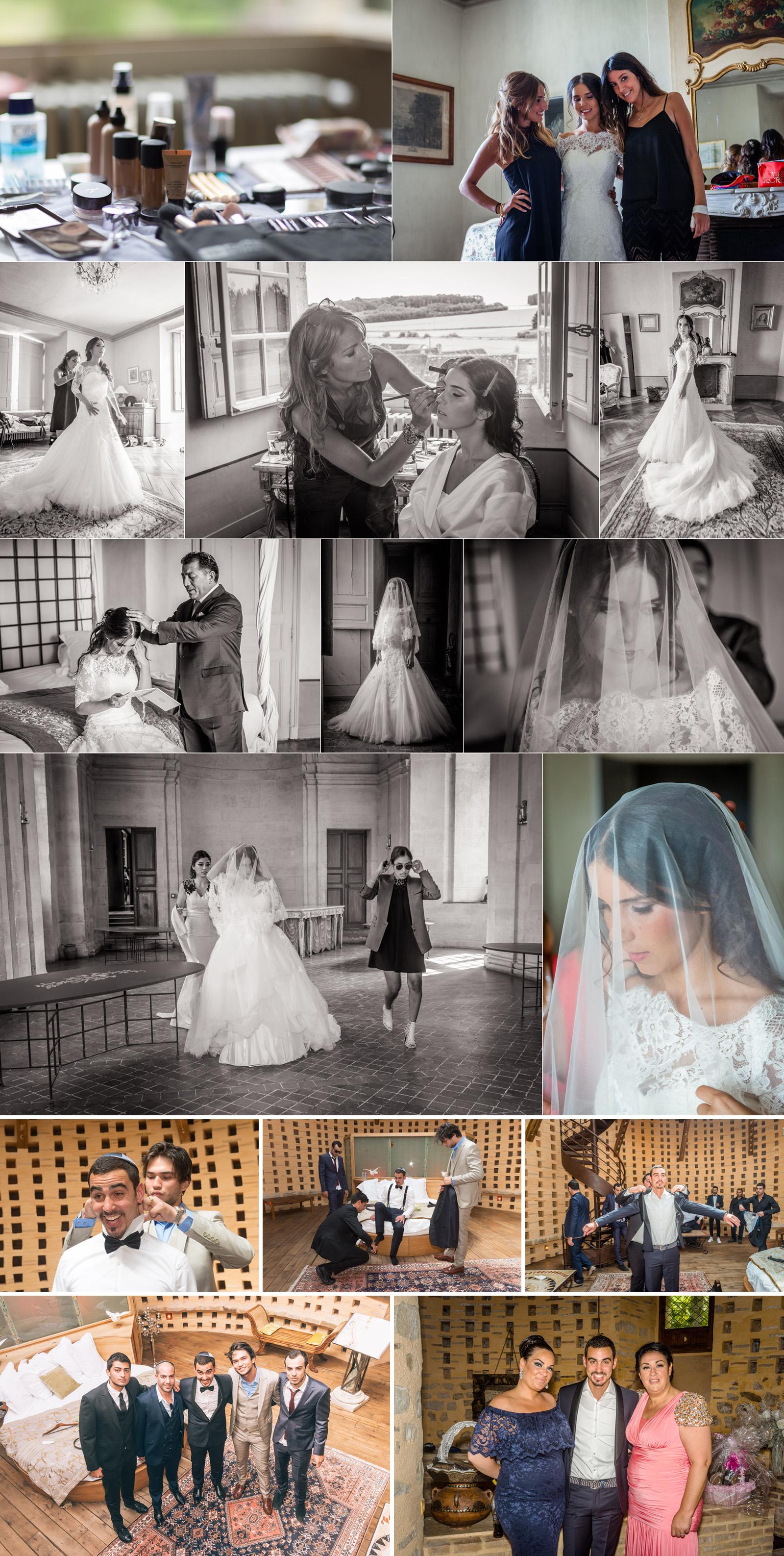préparatifs au château des condé mariage juif